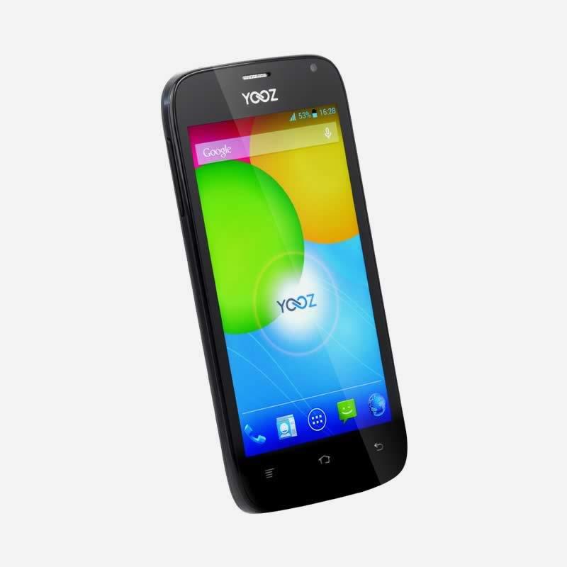 smartphone yooz s450 double sim 4 5 pouces noir clic store. Black Bedroom Furniture Sets. Home Design Ideas
